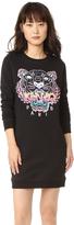 Kenzo Embroidered Tiger Sweatshirt Dress