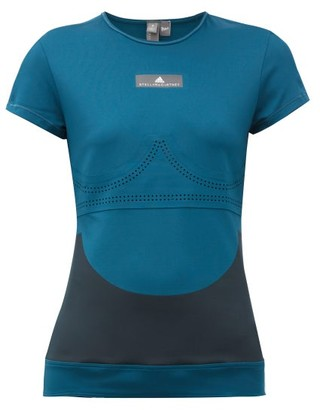 adidas by Stella McCartney Fitsense+ Mesh Performance T-shirt - Womens - Blue