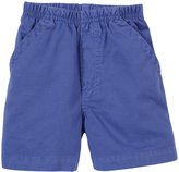 Charlie Rocket Pull On Twill Shorts (Baby) - Blue-3-6 Months