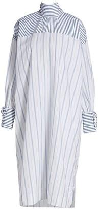 Ganni Stripe Cotton Shift Dress
