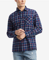 Tommy Hilfiger Men's Troy Windowpane Plaid Shirt, Created for Macy's