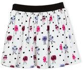Kate Spade Pebbled Crepe Monster Skirt, Multicolor, Size 2-6