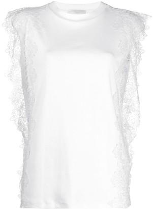 Fabiana Filippi lace detail T-shirt