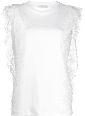 Fabiana Filippi lace detail T-shirt