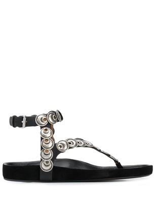 Isabel Marant Eldo coin-embellished thong sandals