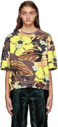 Dries Van Noten Yellow and Brown Floral Sweatshirt
