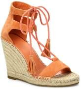 Joie Women's Delilah Lace-Up Suede Espadrille Wedge Sandals