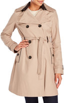 Via Spiga Double-Breasted Belted Trench Coat