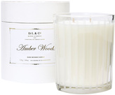 D.L. & Co. Frosted Stripe Amber Woods Candle (18 OZ)