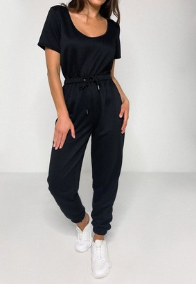 Missguided Scoop Neck Jogger Playsuit