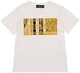 Versace Kids Logo cotton-jersey T-shirt
