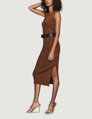 Reiss Katy ribbed stretch-knit midi dress