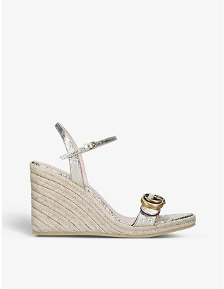 Gucci Aitana leather espadrille wedges