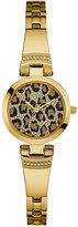 GUESS Women's Gold-Tone Stainless Steel Bracelet Watch 25mm U0890L3