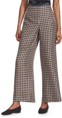 Lafayette 148 New York Riverside Distinct Dot Silk Ankle Pants