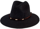San Diego Hat Company Women's Knit Fedora with Velvet Band/Gold Trim CTH8074