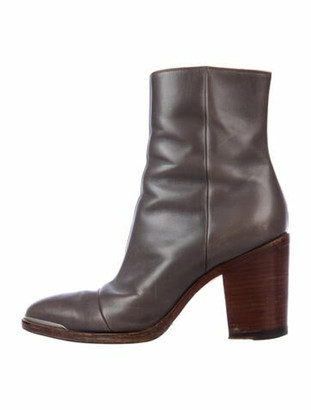 Celine Leather Boots Grey
