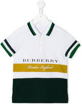 Burberry colour block polo shirt - kids - Cotton - 10 yrs