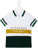 Burberry colour block polo shirt
