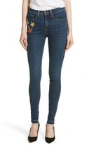 Veronica Beard Women's Kate Patch Skinny Jeans