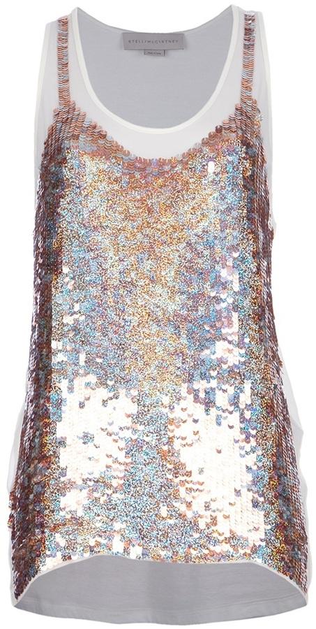 Stella McCartney sequin embellished vest