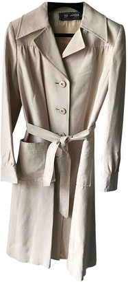 Ted Lapidus Beige Silk Trench Coat for Women Vintage