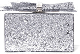Edie Parker Wolf Glittered Acrylic Box Clutch - Silver