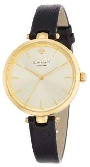 Kate Spade Holland Goldtone Stainless Steel & Leather Strap Watch