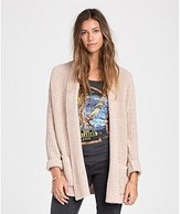 Billabong Junior's Tripped Up Oversized Cardigan Chunky Sweater