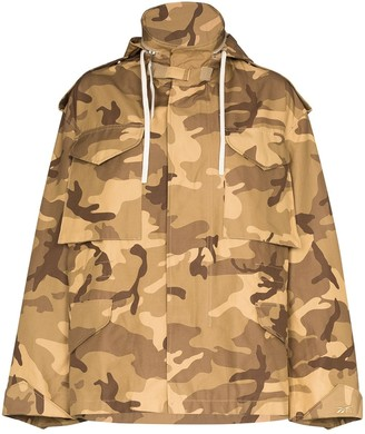 Reebok x Victoria Beckham Camo Military print jacket