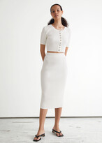 Thumbnail for your product : And other stories Ribbed Midi Pencil Skirt