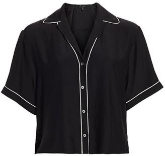 ATM Anthony Thomas Melillo Hammered Silk Pajama Shirt