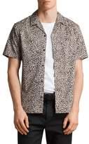AllSaints Apex Leopard Print Short Sleeve Sport Shirt