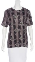 Christopher Kane Floral Short Sleeve Top