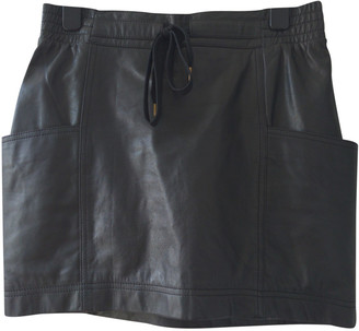 Marc by Marc Jacobs Black Leather Skirts