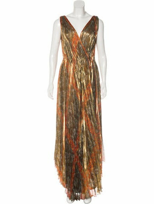 Oscar de la Renta 2017 Silk Dress w/ Tags Gold