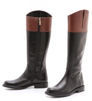 Studio Pollini Two Tone Riding Boots