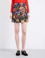 Mary Katrantzou Psychedelic-jacquard mini skirt