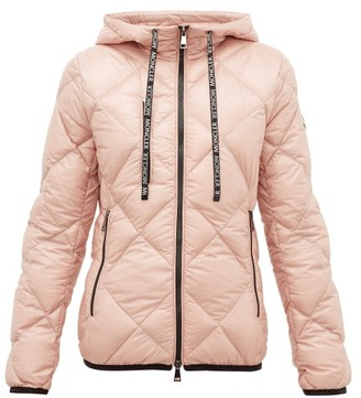 Moncler Olux Diamond-quilted Nylon Hooded Jacket - Womens - Light Pink