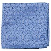 The Tie Bar Light Blue Flower Fields Pocket Square