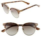 Le Specs Women's Deja Vu 51Mm Round Sunglasses - Black Rubber