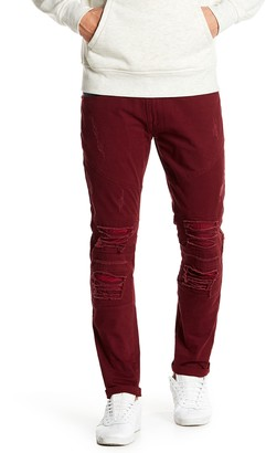 """X-Ray Distressed Faux Leather Jeans - 30-32"""" Inseam"""