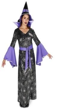 BuySeasons BuySeason Women's Enchanting Witch Foil Printed Dress Costume