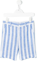 Little Bear - striped shorts - kids - Linen/Flax - 4 yrs
