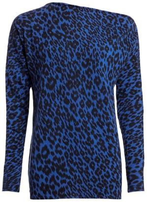 le superbe Zip Me Up Leopard-Print Cashmere Sweater