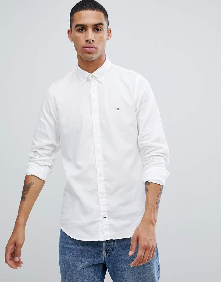 e55abc1d7889 Tommy Hilfiger White Button Down Tops For Men - ShopStyle UK