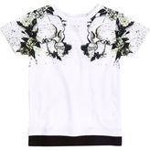 River Island Mini boys white skull shoulder print T-shirt