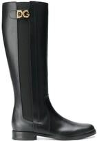 Dolce & Gabbana logo boots