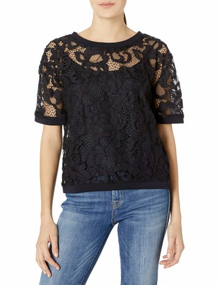Juicy Couture Black Label Women's Hibiscus Woven Lace Top
