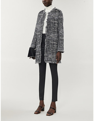 Pinko Bon Bon cotton-blend tweed coat